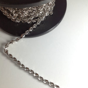 #CH0794 Silver Twisted Decorative Chain 5mm