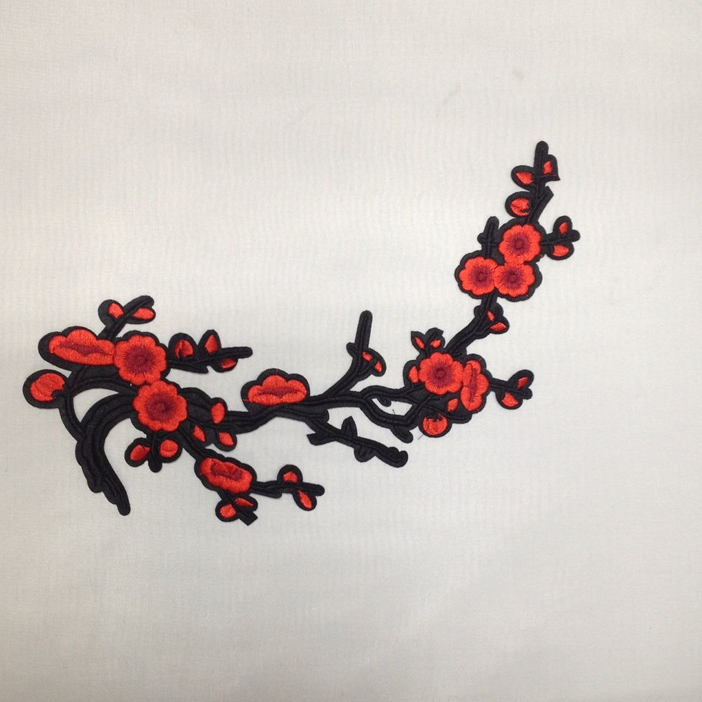 Iron On Cherry Blossom Applique/ Patch