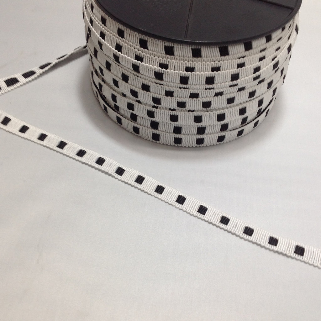 Grose Grain Ribbon with Spot Effect