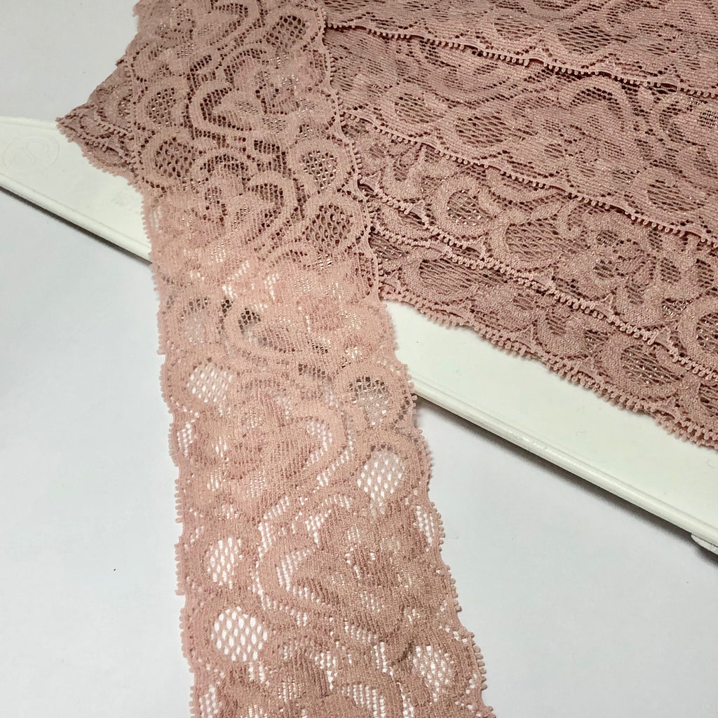 Dusty Pink Galloon Edged Trim