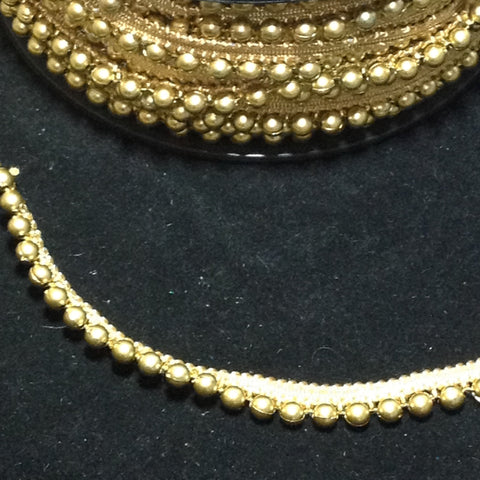 YT206991  Gold Beading on Gold Piping