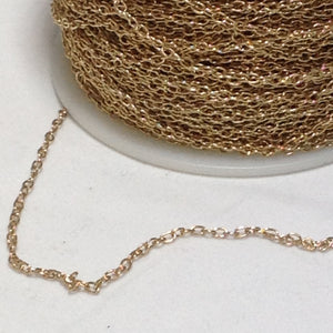 Gold Oval  Link Chain 2mm