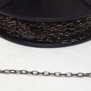 Gunmetal Oval Link Chain 4mm