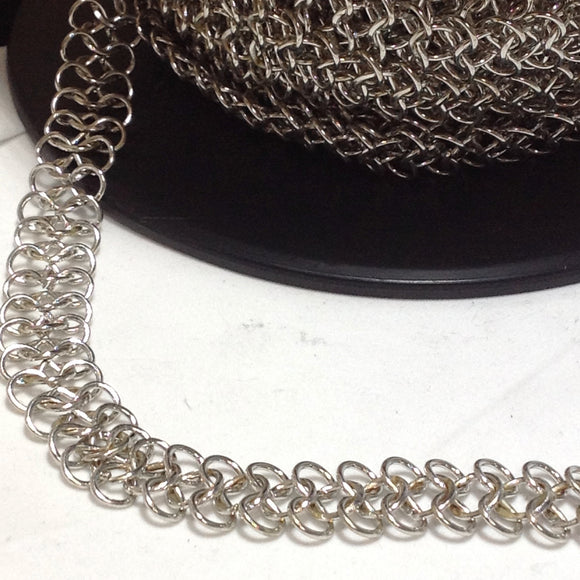 YBU201582 Silver Maille Chain 15mm