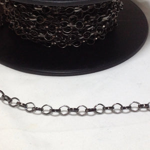 Gunmetal Grey link Chain 6mm