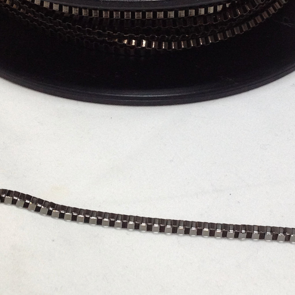 Gunmetal Grey square snake Chain 2mm