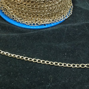 FC378 Gold Oval  Link Chain 4mm