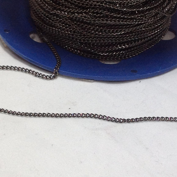 Gunmetal Grey link Chain 2mm