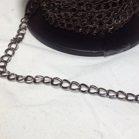 Gunmetal Grey Double Link Chain 6mm