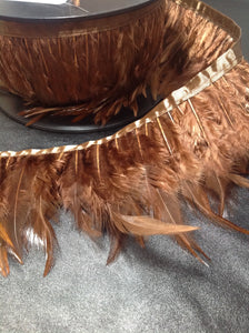 Brown Feather Trim  variable 8 - 14mm