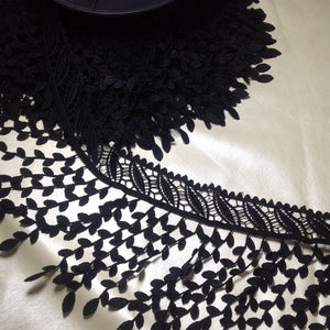 Chandra Guipure Fringed Lace