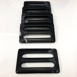 Black and White Matte Finish Buckle