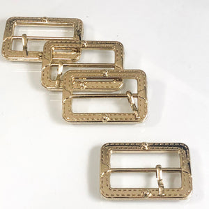 Stitch Buckle Pale Gold