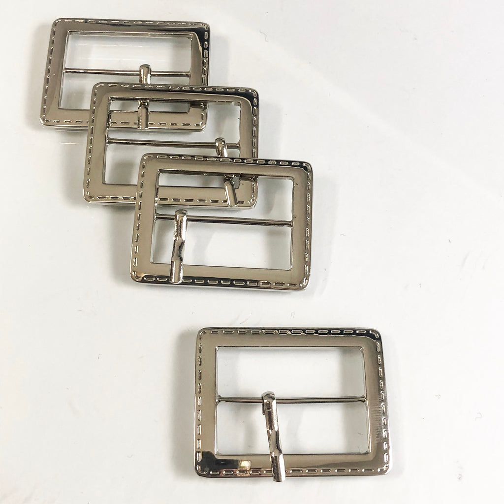 Stitch Buckle Nickel Finish
