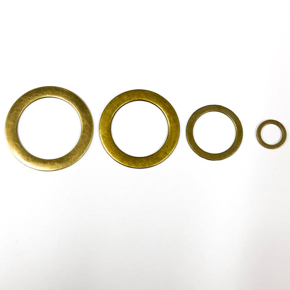 Antique Brass Flat Rings