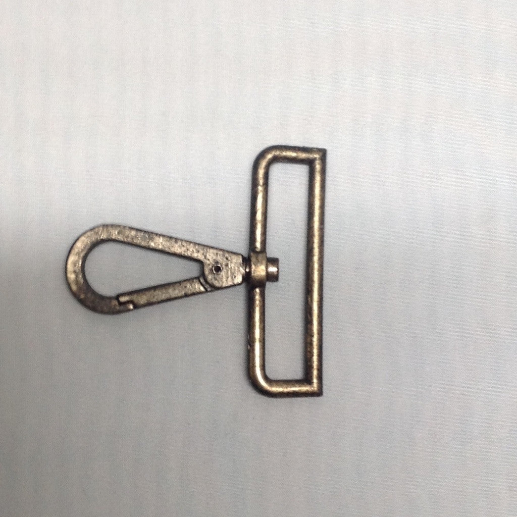 Parrot Clip Rectangle Antique Bronze 70mm