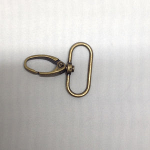 Parrot Clip Oval Antique Brass 40mm