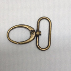 Parrot Clip Oval Antique Brass 50mm