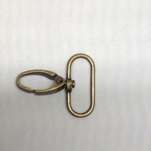 Parrot Clip Oval Antique Brass 70mm