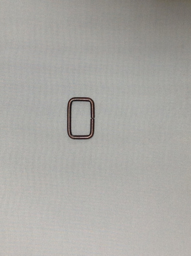 Metal Square Ring Antique Brass 30mm