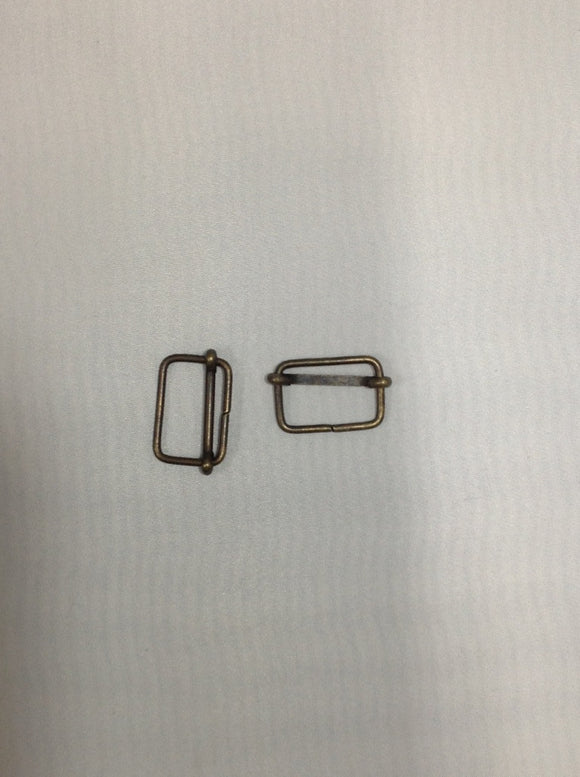 Metal Slider Buckle Antique Brass 30mm