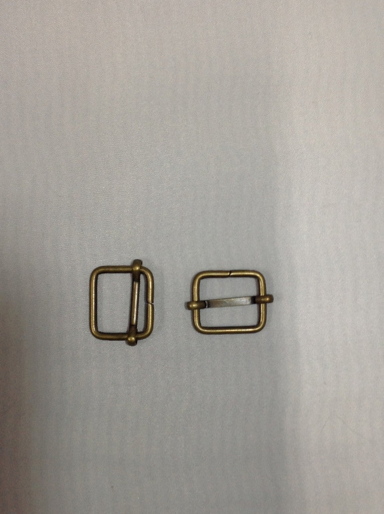 Metal Slider Buckle Antique Brass 20mm