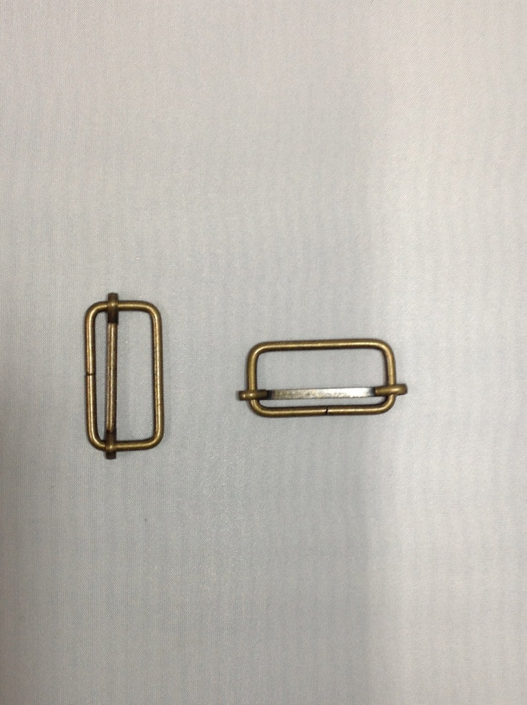 Metal Slider Buckel Antique Bronze 30mm