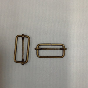 Metal Slider Buckle Antique Brass 40mm