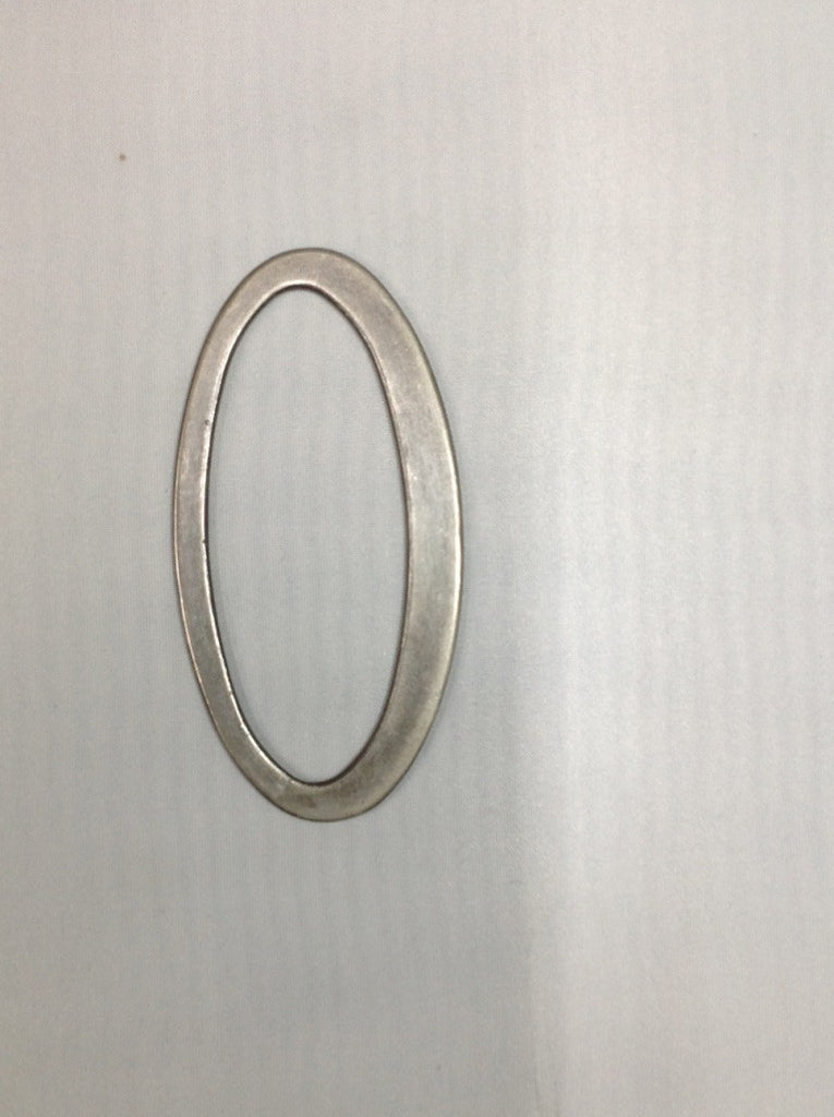 Metal Oval Ring Brushed Nickel/ Gunmetal Grey 120mm