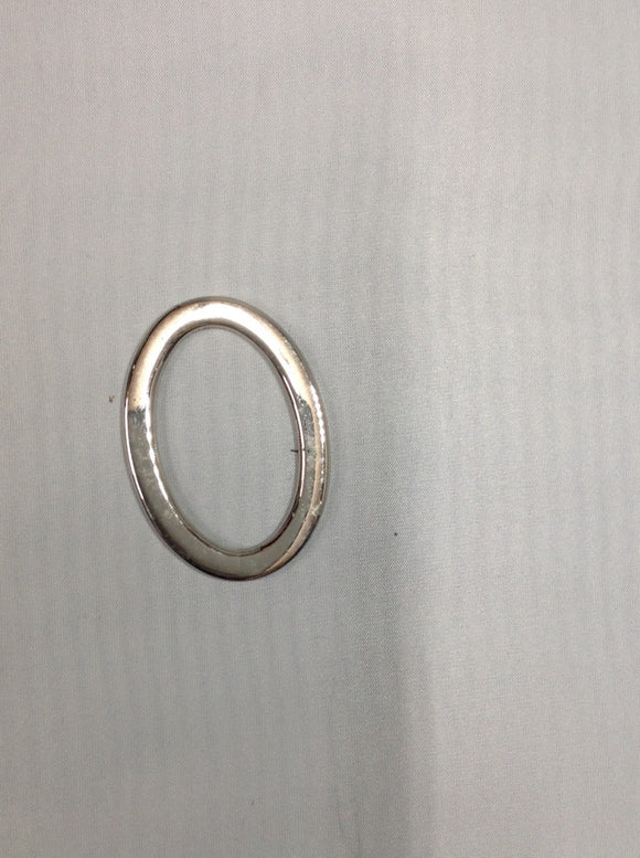Metal Oval Ring Nickel 50mm