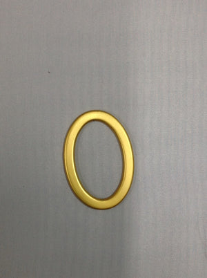 Metal Oval Rings Antique Brass/ Brushed Gold/ Gold 55mm