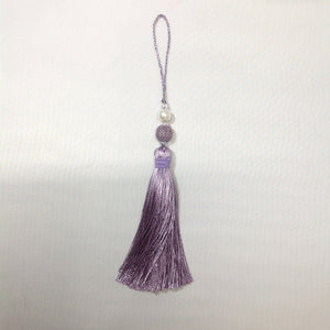 Long tassel with pearl 25cm