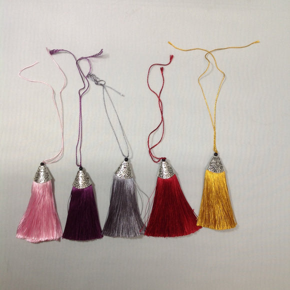 Tassel with Metal Embossed Ends