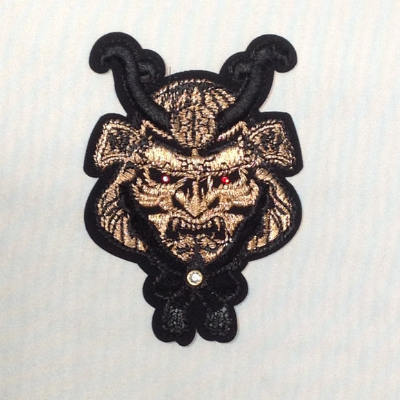Ninja's Iron On Patch in Gold or Silver