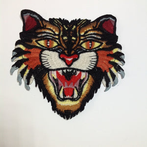 Tiger Head Patch Embroidered Small