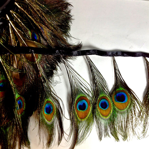 YT201292 PEACOCK FEATHER TRIM