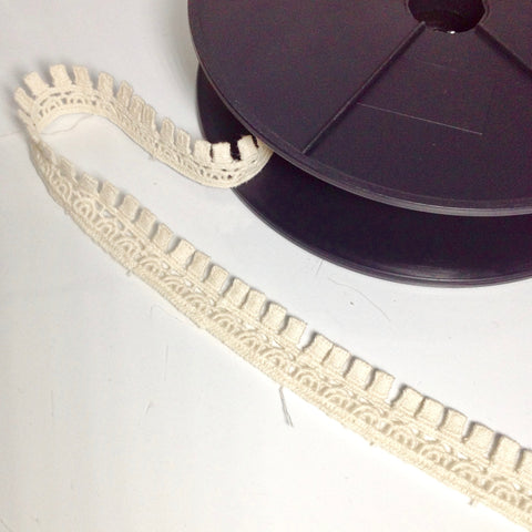 #YT201369 Cotton Square Fringe Trim Tape Natural 19mm $2.90/mt
