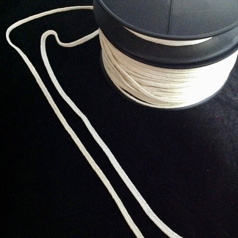 #YT202985 Braid Tape Rope Trim Black, Ivory, or White 5mm $4.20/mt
