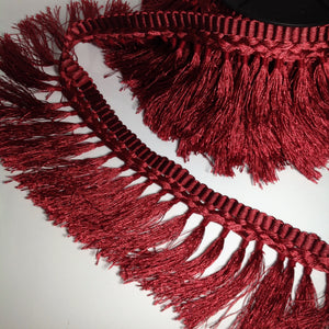 Ashlin Deep Red Tassel Fringing
