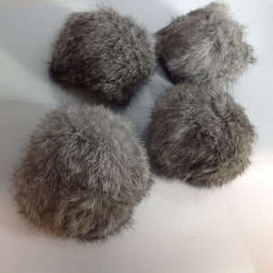 Large Speckle Fur Pom Poms