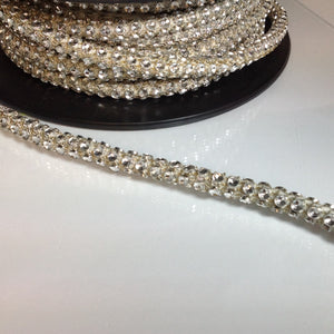 #LT106 Dance Studed Silver Cord Trim 10mm