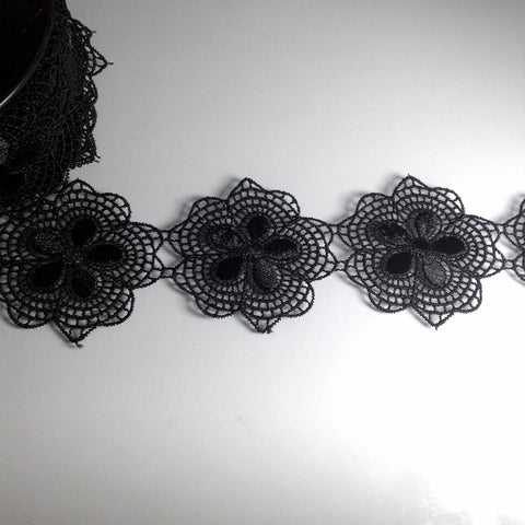 #YT204022 Black Flower Lace