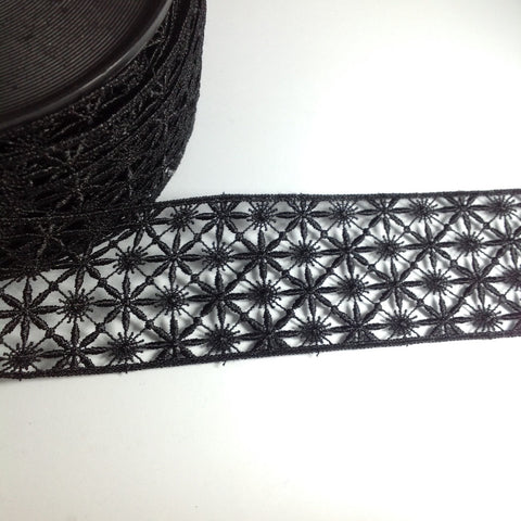 Star Detail Black Fancy Lace YT204023