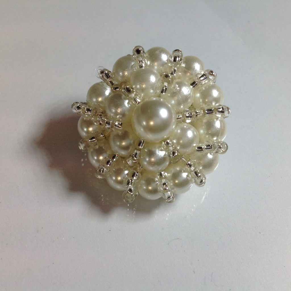 #YB203393 Beaded button