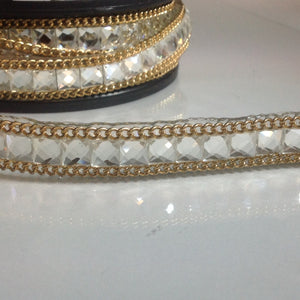 #TL134 Fancy Stone Chain Trim