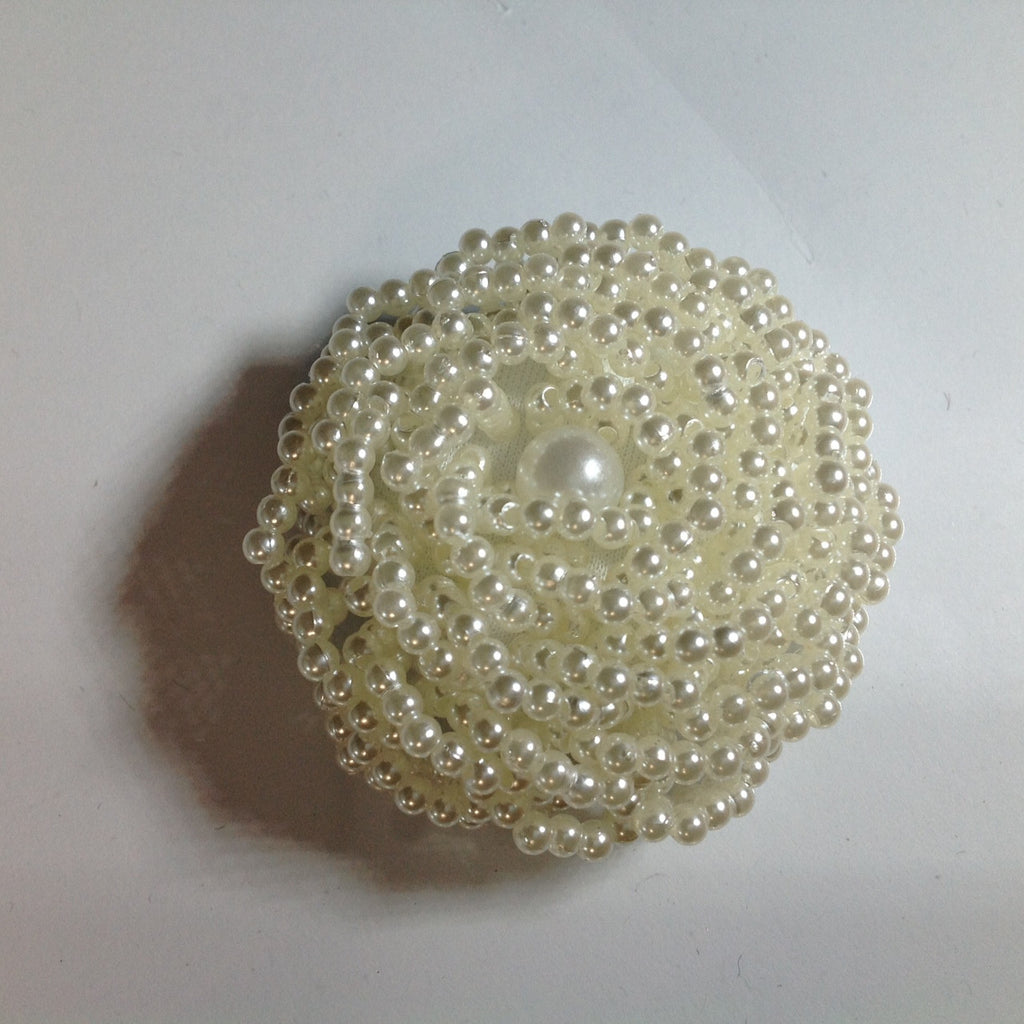 #YB203394 Beaded Pearl Button
