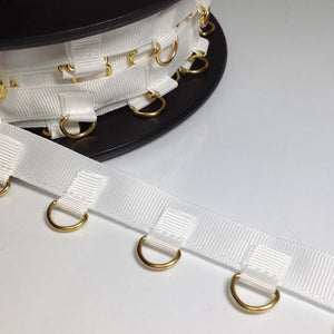 #YT204177 White and Gold D Ring Trim