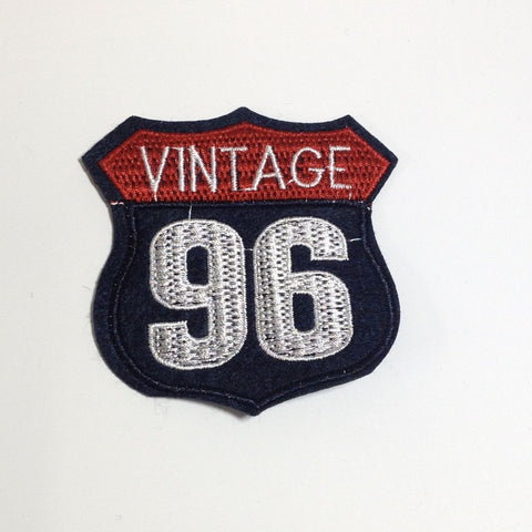 Vintage 96 Iron On Patch 80mm x 80mm