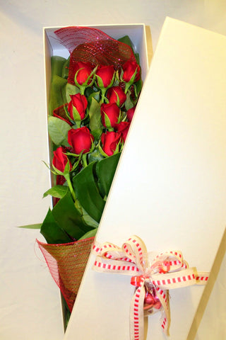 Gift Box of Red Roses