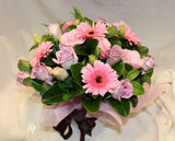 Box Arrangement of Pink Flowers